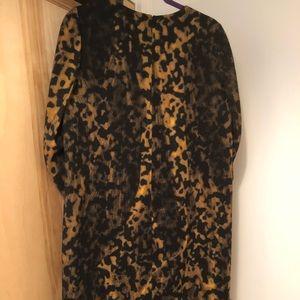 NWT Lafayette 148 wool animal print sheath dress 6